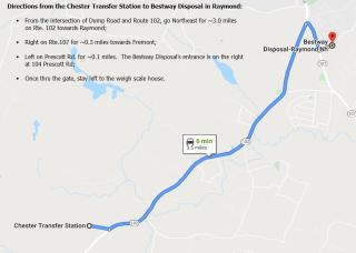 Map to Bestway Disposal in Raymond